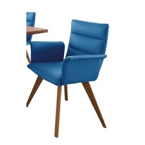 CASAVANTI Stuhl GENF II Leder Blau