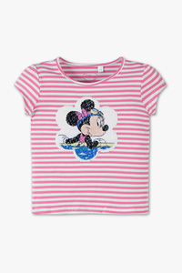 Disney Girls         Minnie Maus - Kurzarmshirt - gestreift