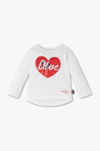 Disney Baby         Minnie Maus - Baby-Langarmshirt - Bio-Baumwolle