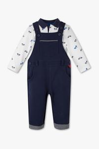 Baby Club         Set - Baby-Latzhose und Poloshirt - Bio-Baumwolle