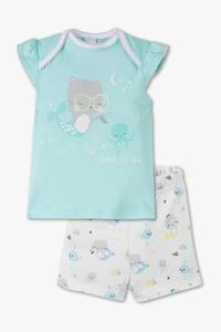 Baby Club         Baby-Shorty-Pyjama - Bio-Baumwolle - 2 teilig