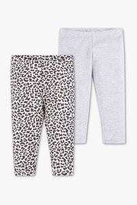 Baby Club         Baby-Leggings - Bio-Baumwolle - 2er Pack