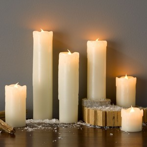 LED-Kerzen, Echtwachs, 6er-Set