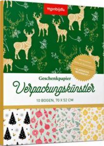 Geschenkpapier Verpackungskünstler Klassische Weihnacht, 10 Bogen 70x52 cm