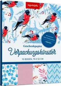 Geschenkpapier Verpackungskünstler Winter, 10 Bogen 70x52 cm