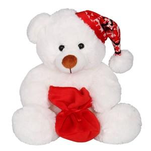 Winterbär Teddy Stofftier weiß