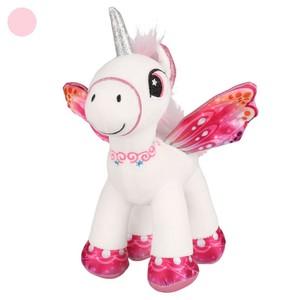 Einhorn-Kuscheltier mit Flügeln rosa