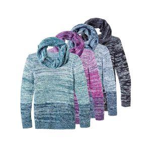 Laura Torelli Classic Damen-Pullover mit farblich passendem Loop