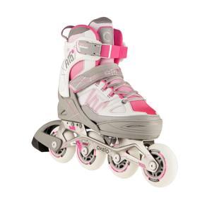 Inline-Skates Inliner Fitness FIT 5 Kinder rosa/weiß