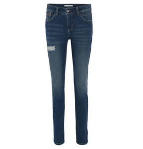 "MAC             Jeans ""Slim glam"" Slim-Fit, Baumwoll-Mix, Used-Look, Strass"