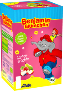 Alete Quetschbeutel Benjamin Blümchen Gartenfrüchte, 4x100g
