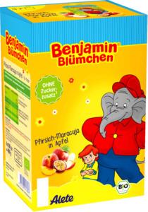 Alete Quetschbeutel Benjamin Blümchen Pfirsich-Maracuja in Apfel, 4x100g