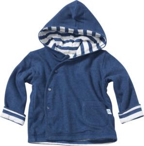 ALANA Baby-Jacke mit Kapuze gefüttert, Gr. 62, in Bio-Baumwolle, blau, für Mädchen und Jungen