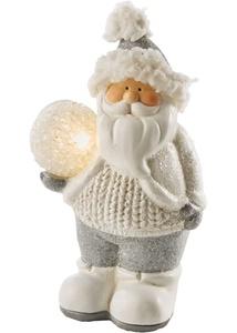 Weihnachtsmann mit LED-Kugel