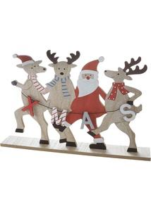Tanzende Elche mit Santa
