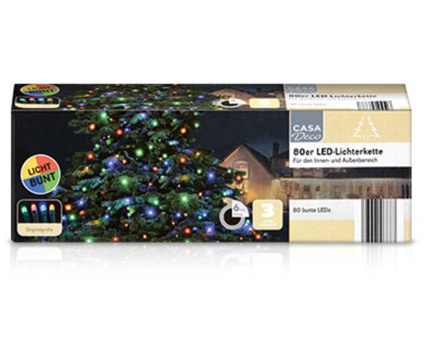 CASADeco 80er LED-Lichterkette