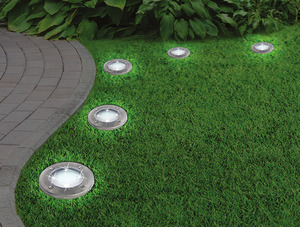 LED-Solarleuchte Disk Lights