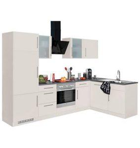 smart 2 zeilen k che wei blaugrau von sconto sb ansehen. Black Bedroom Furniture Sets. Home Design Ideas