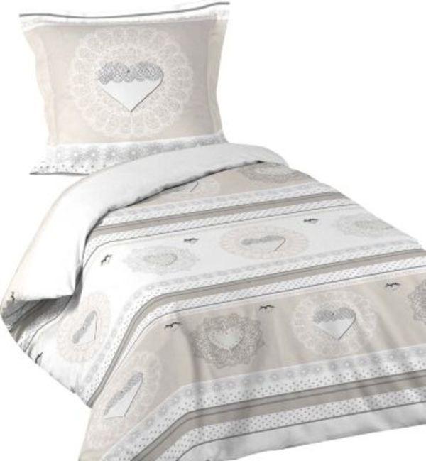 2tlg Landhaus Bettwasche 140x200 Baumwolle Bettdecke Bettgarnitur