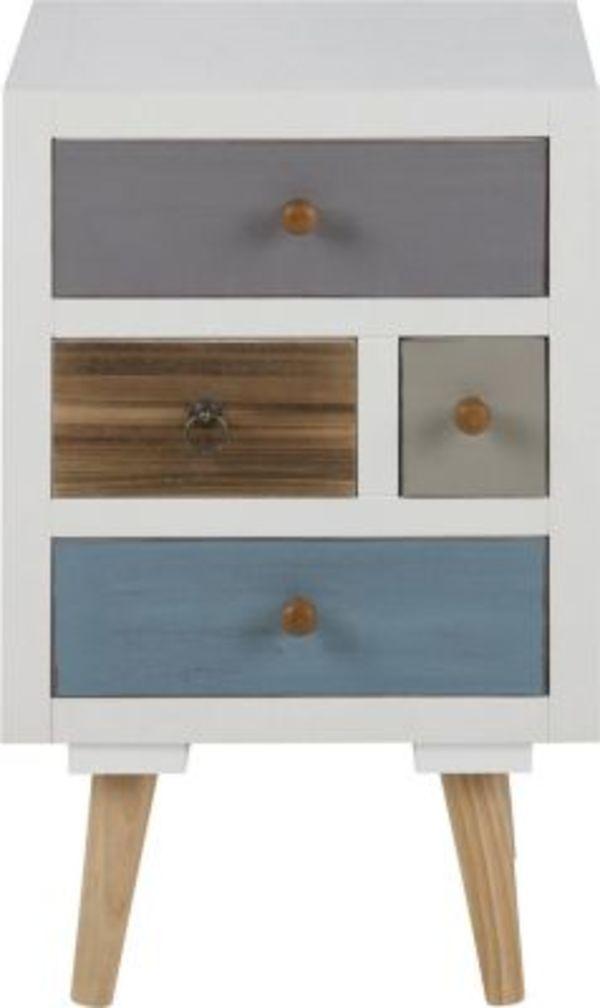 Pkline Nachttisch Holz Nachtschrank Nachtkonsole Schlafzimmer Mobel Weiss Bunt Von