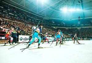 Deutschland - Oberhausen  Biathlon auf Schalke