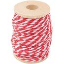 Bild 1 von Paper Poetry Baumwollgarn rot-weiß 15m
