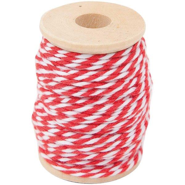 Paper Poetry Baumwollgarn rot-weiß 15m