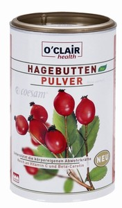 O'Clair Bio Hagebutten Pulver 225 g
