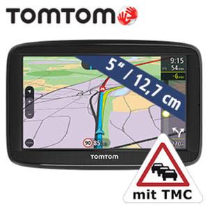 Navigationssystem Via 52 EU · Sprachsteuerung Speak & Go  · Smartphone Verkehrsinformationen  · KFZ-Halterung  **weitere Infos unter www.tomtom.com/de_de/maps/lifetime-maps/