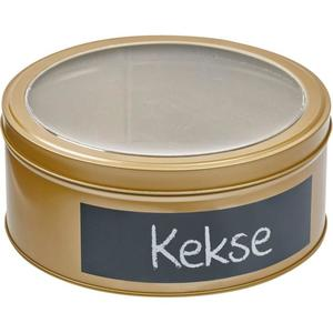 IDEENWELT Keksdose mit Tafelfeld gold