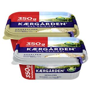 Arla Kaergarden gesalzen oder ungesalzen, jede 350-g-Vorteilspackung