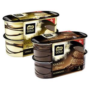 Nestlé Knackige Mousse Vanille oder Schokolade, jede 4 x 57 = 228-g-Packung