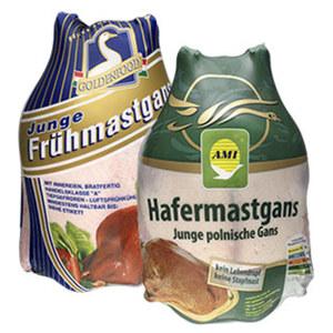 Polnische Hafermastgans oder Ungarische Frühmastgans HKl. A, gefroren, je 1 kg