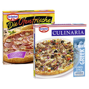 Dr. Oetker Die Ofenfrische Pizza gefroren, jede 410-g-Packung und weitere Sorten