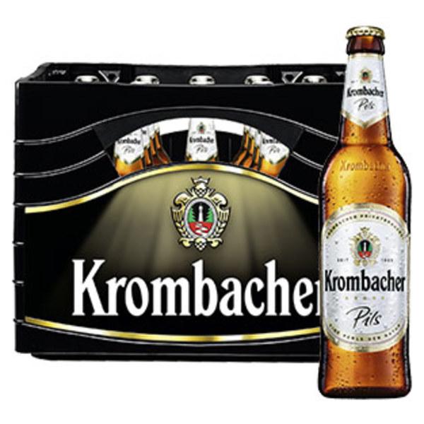 Krombacher  versch. Sorten, 20 x 0,5/24 x 0,33 Liter