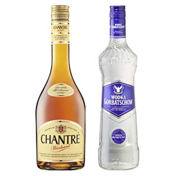 Wodka Gorbatschow, Citron oder Chantre 37,5/37,5/36 % Vol.,  jede 0,7-l-Flasche
