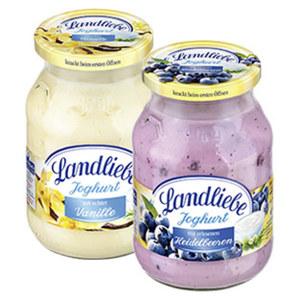 Landliebe Fruchtjoghurt versch. Sorten, jedes 500-g-Glas