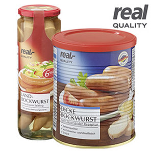 Dicke Bockwurst oder Landbockwurst jede 400-g-/5er Dose/330-g-/6er Glas