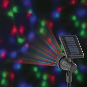 EASYmaxx Solar-Partyleuchte Lichtpunkte 1,2V schwarz LED blau/grün/rot