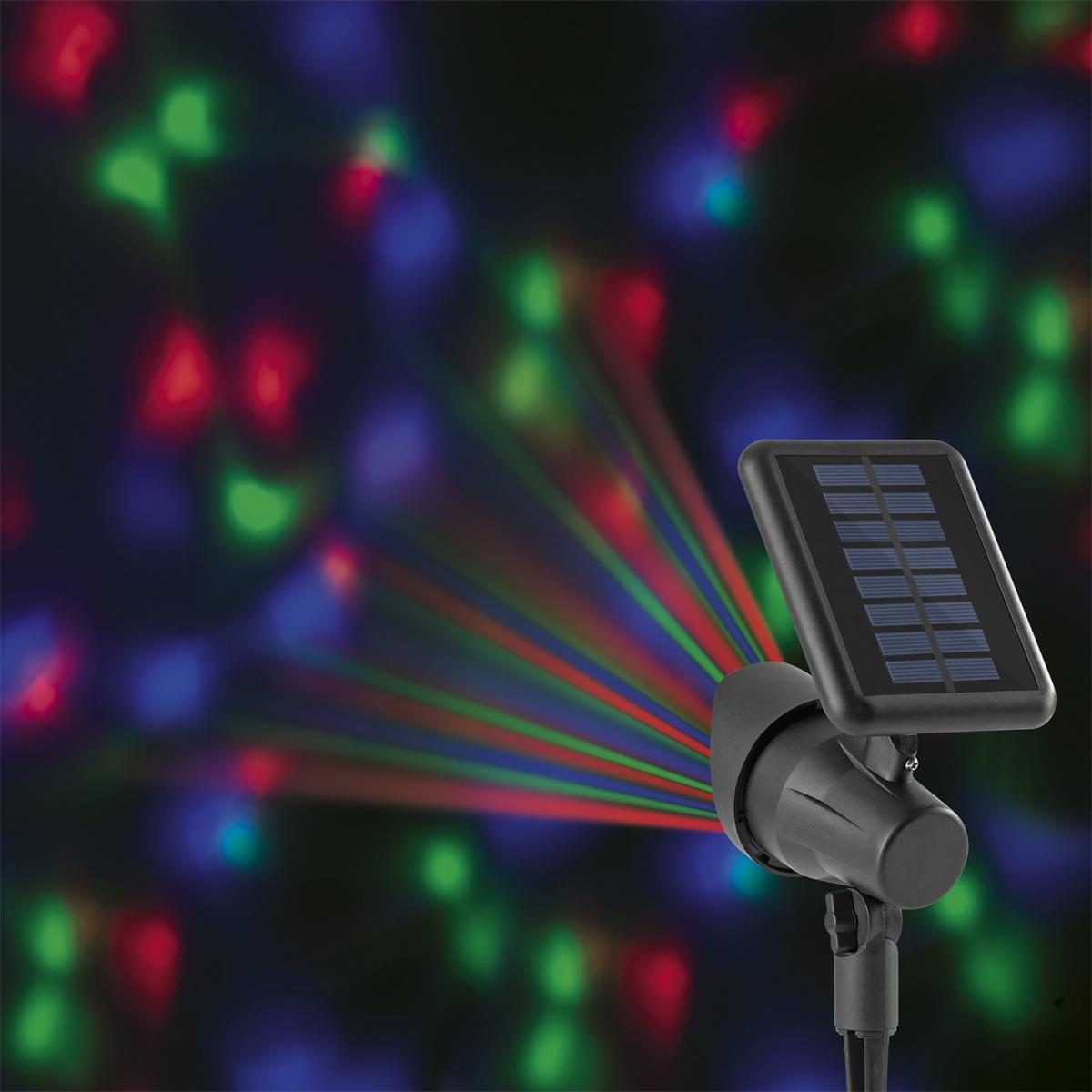 Bild 1 von EASYmaxx Solar-Partyleuchte Lichtpunkte 1,2V schwarz LED blau/grün/rot