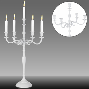 Deuba Kerzenleuchter 5-armig 78cm weiß