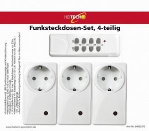 Heitech Funksteckdosen-Set, 4-teilig