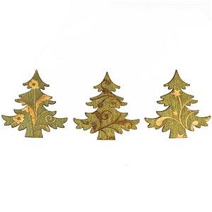 Streu Baum grün Holz 24 Stück