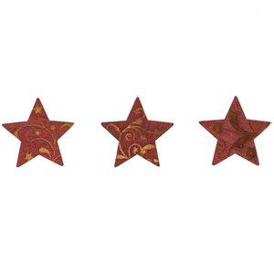 Streu Sterne rot Holz 24 Stück