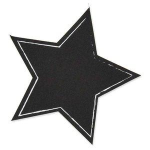 Tafelstoff-Sticker Stern schwarz 20cm