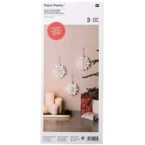 Rico Design Papiertüten-Sterne weiß klein 3 Sterne