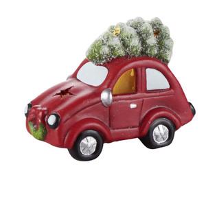 Deko Figur Auto mit Baum mit LED 15 x 7 x 11 cm