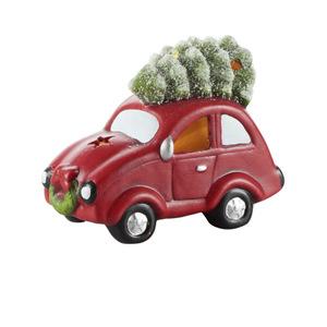 Deko Figur Auto mit Baum mit LED 22 x 12 x 16 cm