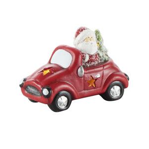 Deko Figur Auto mit Nikolaus