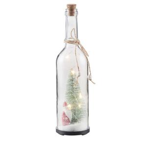 ProVida Dekoflasche mit LED und Weihnachtsdeko